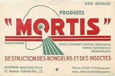 BUVARD / PUBLICITAIRE / MORTIS // DISTRIBUTION DES RONGEURS ET DES INSECTES