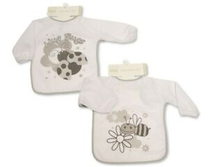Large Long Sleeved Baby Bibs Unisex with PEVA back - Single or 2-Pack - 753