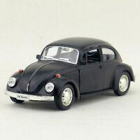 Vintage VW Beetle 1967 1:36 Model Car Diecast Gift Toy Kids Pull Back Black