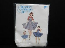 """Square Dance Dress Pattern """"Authentic Patterns #281"""" Size 6-8-10 Has Been Cut"""