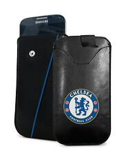 Chelsea Football Club Mobile Phone Smartphone PU Leather Pouch - Small Case
