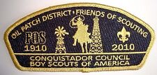 CONQUISTADOR COUNCIL NM KWAHADI 78 FLAP FOS 2010 PATCH CSP BSA 100TH CENTENNIAL