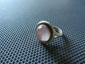 N. E. FROM Ring Silber 925 Rosenquarz Nils Erik From Denmark