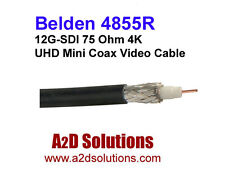 Belden 4855R 4K Ultra-High-Definition Coax Cable for 12G-SDI  1000' Black