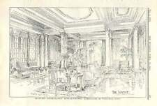 1909 Lounge In Proposed Hydropathic Establishment Harrogate, Samuel Stead
