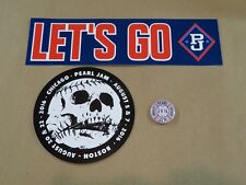 PEARL JAM 2016 WRIGLEY FIELD STICKERS, PIN SET! Nt poster zippo LET'S PLAY TWO!