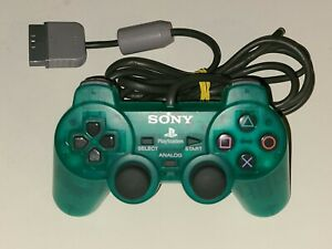 Sony Playstation 1 PS1 Dual Shock Wired Green Analog Controller SCPH-1200 OEM