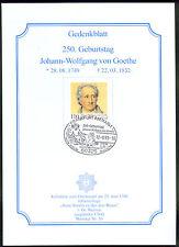 BRD MiNr 2073 (PMR Nr 134dG) 250. Geburtstag Johann Wolfg. v.Goethe -Freimaurer-