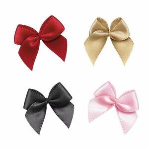 Satin Ribbon Bows DIY Craft Supplies Party Decor Gift Packing Bowknots Appliques