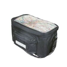 BICYCLE INSULATED HANDLEBAR BAG BIKE CYCLE FRONT PANNIER + MAP HOLDER