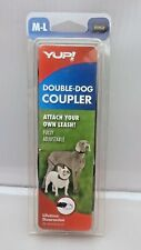 YUP! Double Dog Coupler Black, Med-Large Fully Adjustable Black Quality Animal