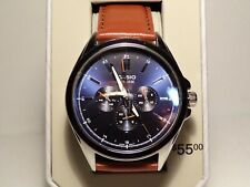New Casio MTPSW300L2TN analog watch tan leather three sub dials day/date/24hr