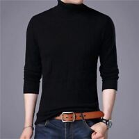 Merino Wool Men Thick Warm Turtleneck Sweaters And Pullovers Cashmere