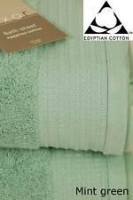MINT Green Large Bath Sheet Pair - 100 Pure Egyptian Cotton 650gsm Towel