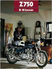 KAWASAKI Brochure KZ750 Z750 B2 1977 Twin Sales Catalog REPRO