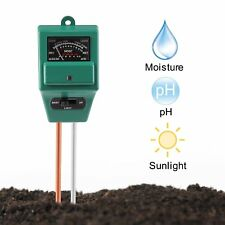 3 In 1 Soil Tester Meter for Garden Herb Plant Pot MOISTURE LIGHT PH Sensor Tool