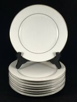 "DYN4 by Dynasty China 7 3/8"" Salad Plates White Flowers Set of 8"