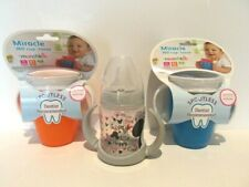 2 Munchkin Miracle 360 Trainer Cups Blue/Orange 7 oz, 1 Nuk Sippy Cup 5oz Bundle