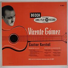 VINCENT GOMEZ: Guitar Recital Flamenco Latin DECCA Orig VINYL LP NM- 50s