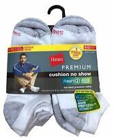 "Hanes® Premium Men's Athletic  No Show Socks 11-Pairs  Fit shoe 6-12   ""FreshIQ"""