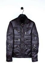 Original Dolce&Gabbana Men Jacket Zipped pockets Shinny Dark brown sz. 52 IT (L)