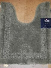 "Chaps Richmond Green Plush Pile Contour Throw Rug Skid Resistant 19""x24"""