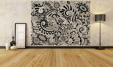 Wall Room Decor Art Vinyl Sticker Mural Decal Doodle Floral Zentangle FI1064