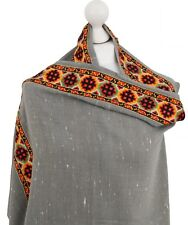 Warm Angora Wool Shawl Indian Embroidered Grey Pashmina Shawls Winter Scarf  Wrap 7c9ee2c1f45c1