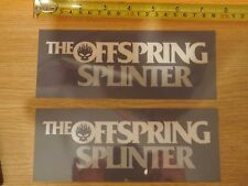 2 The Offspring Splinter Flaming Skull Icon Vinyl Stickers Decals Band greenday