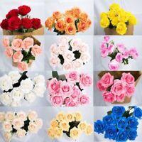 7 Color 10pcs-40pcs Silk Real Touch Rose 6CM Flowers Bouquet wedding Home Decor