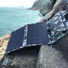 11W SOLAR USB 12V FOLDING PANEL KIT caravan camping power mono Battery charging