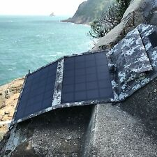 11W SOLAR  USB 12V FOLDING PANEL KIT caravan camping power mono Battery charging