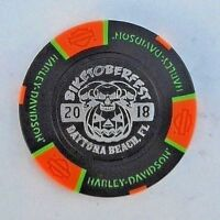 Harley Davidson Daytona Beach Biketober Fest 2018 Poker Chip