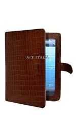 New Cover Case Stand iPAD 2 3 & 4 Tan Croc Print Luxury Real Genuine Leather