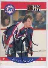 Autographed 90/91 Pro Set Randy Carlyle - Jets