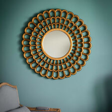 "Claremont Unique Gold X Large Round Organic Flowering Wall Mirror 40"" 102cm"
