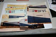 HO HERALD KING D&H I LOVE NY BOXCAR DECALS W/PICTURES  AS PICTURED   FROM ESTATE