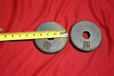 """2  2-1/2 lb 1"""" Hole Iron Barbell Weight Plates  Made in USA"""