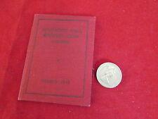 Broughton Hall Cricket Club CHESTER Stagione 1948 dispositivo CARD / membri TICKET