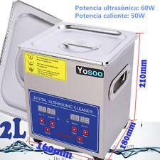 2L Limpieza Por Ultrasonidos Ultrasonic Cleaner Limpiador Ultrasónico Con Tapa