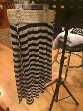 Btween girls Skirt Size 10 Hi-low Striped White (Cream) and Navy