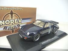 Porsche 911 Turbo 3.3  930 1978-1989 Blue Norev 1:18 NEW FREE SHIPPING