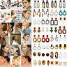 43 Type Acrylic Tortoise Shell Earring Round Circle Resin Hoop Earrings For Lady
