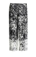 French Connection Black & White Copley Crepe Palazzo Trousers 12 RRP£80 BNWT