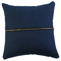 1pce 45cm Denim Blue Cushion Cover w/ Chunky Zip Feature with Insert
