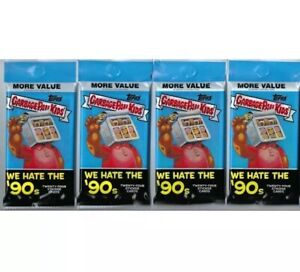 """2019 Topps Garbage Pail Kids """"We Hate The 90's"""" Stickers 24c Lot Of 2 FAT PACKS!"""