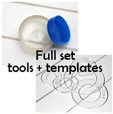 FULL SET TOOL TEMPLATE KIT for fabric buttons - 12, 15, 19, 23, 28, 38 and 45mm
