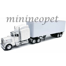 NEW RAY SS-14363 PETERBILT 379 40' CONTAINER LONG TRUCK 1/32 PLAIN WHITE