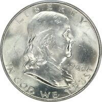 1948, 50c, Franklin Half Dollar, Silver, Full Bell Lines, PCGS MS63 FBL