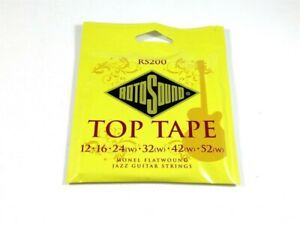 Rotosound RS200 Top Tape Monel Flatwound Electric Jazz Guitar Strings 12-52 -New